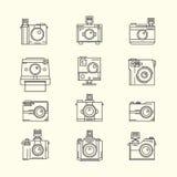 Inzameling van Toy Camera Vector Stock Afbeeldingen