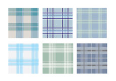 Inzameling van traditioneel geruite Schotse wollen stof naadloos patroon Royalty-vrije Stock Afbeelding
