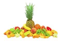 Inzameling van tropische vruchten Stock Foto