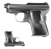 Inzameling van twee pistool, pistolen Royalty-vrije Stock Afbeeldingen