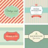Inzameling van uitstekende etiketten Stock Foto's