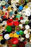 Inzameling van Uitstekende Knopen stock foto's