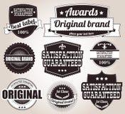 Inzameling van uitstekende retro etiketten, kentekens, zegels, linten Royalty-vrije Stock Fotografie