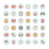Inzameling van 36 universele vector lineaire pictogrammen Stock Afbeeldingen