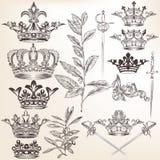 Inzameling van vector heraldische kronen royalty-vrije illustratie