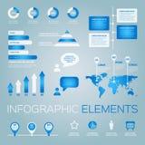 Inzameling van vector infographic elementen Stock Fotografie