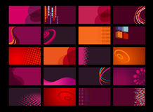 Inzameling van vectoradreskaartjes stock illustratie