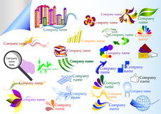 Inzameling van vectorbedrijfetiketten Stock Foto's