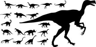 inzameling van vectordinosaurussen Stock Afbeelding
