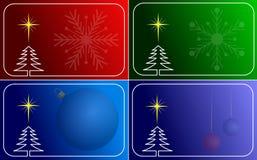 Inzameling van vectorKerstmiskaarten Royalty-vrije Stock Afbeelding