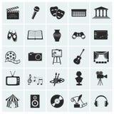 Inzameling van vectorkunstenpictogrammen. Royalty-vrije Stock Fotografie
