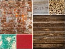 Inzameling van verschillende achtergronden en texturen Stock Afbeeldingen