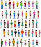 Inzameling van verschillende mensen Stock Foto's