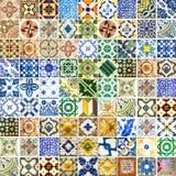 Inzameling van verschillende patronentegels Royalty-vrije Stock Afbeelding