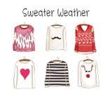 Inzameling van verschillende sweaters Stock Afbeelding