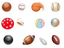 Inzameling van Verschillende Types van Ballen Stock Fotografie