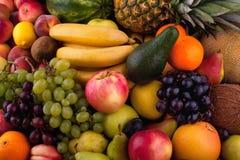 Inzameling van verschillende vruchten Stock Afbeeldingen