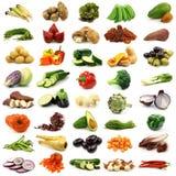 Inzameling van verse en kleurrijke groenten Stock Foto