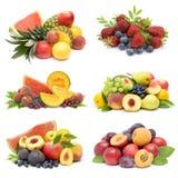 Inzameling van verse vruchten stock foto