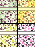 Inzameling van verticale retro banners met bloemen Stock Foto's