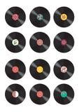 Inzameling van vinylverslagen stock illustratie
