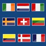 Inzameling van vlaggen royalty-vrije illustratie