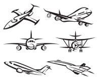 Inzameling van vliegtuigen stock illustratie