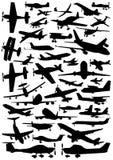 Inzameling van vliegtuigvector Stock Afbeelding