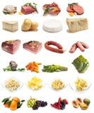 Inzameling van voedselverscheidenheid royalty-vrije stock foto