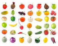 Inzameling van Vruchten en groente Stock Foto's