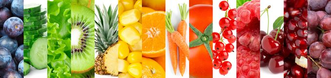 Inzameling van vruchten en groenten royalty-vrije stock fotografie