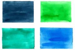 Inzameling van waterverfrechthoeken voor ontwerp Royalty-vrije Stock Fotografie