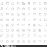 Inzameling van Webpictogrammen in Vector Royalty-vrije Stock Fotografie