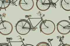 Inzameling van wijnoogst geroeste fietsen Stock Afbeelding