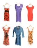 Inzameling van zes verschillende kleding Royalty-vrije Stock Foto