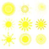 Inzameling van zonnen Royalty-vrije Illustratie