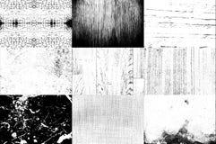 Inzameling van Zwart-wit textuurgebruik voor bekleding op beeld t stock foto's