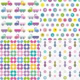 Inzameling vier kleurrijke als achtergrond Stock Afbeeldingen