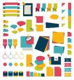 Inzamelingen van diagrammen van het infographics de vlakke ontwerp stock illustratie