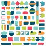 Inzamelingen van elementen van het infographics de vlakke ontwerp stock illustratie