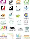 Inzamelingen van logotype Stock Foto
