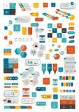Inzamelingen van malplaatje van het infographics het vlakke ontwerp