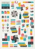 Inzamelingen van malplaatje van het infographics het vlakke ontwerp vector illustratie
