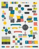 Inzamelingen van vlakke het ontwerpdiagrammen van de informatiegrafiek royalty-vrije illustratie