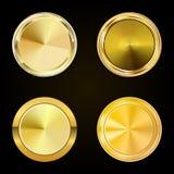Inzamelings gouden etiketten voor promoverbindingen Kan gebruik voor website zijn, Royalty-vrije Stock Foto