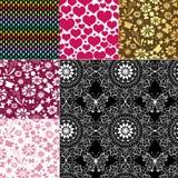 Inzamelings naadloze kleurrijke patronen stock illustratie