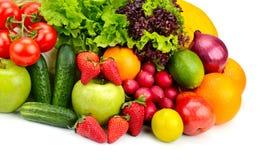 Inzamelings verse vruchten en groenten Royalty-vrije Stock Afbeelding