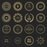 Inzamelings yelow etiketten voor promoverbindingen royalty-vrije illustratie