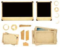 Inzamelingselementen voor het scrapbooking Stock Afbeeldingen