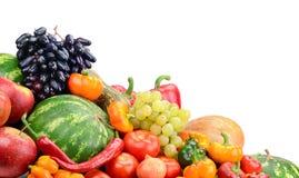 Inzamelingsfruit en groenten Stock Afbeeldingen